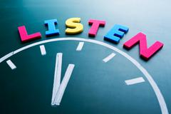 time to listen concept - stock photo