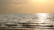 Stock Video Footage of sea in sunset