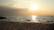 Stock Video Footage of Coast in sunset