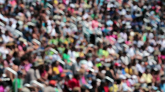 Crowd in busy stadium sporting event blurred HD 8944 - stock footage