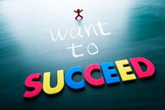 i want to succeed - stock photo