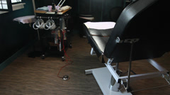 Tattoo Chair Stock Footage