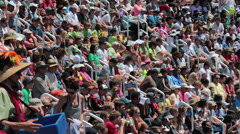 Crowd in busy stadium sporting event HD 8942 Stock Footage