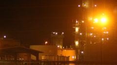 Power Plant Night Stock Footage