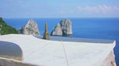 Stock Video Footage of Capri Italy Miniature Obelisk In Focus - 29,97FPS NTSC
