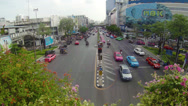 Stock Video Footage of bangkok, thailand - apr 4: car traffic in the city center near mbk shopping m
