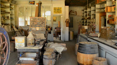 Bodie California - Abandon Mining Ghost Town Interior - Daytime Stock Footage