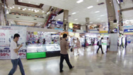 Stock Video Footage of bangkok - apr 14: customer walking inside of mbk shopping center on apr 14, 2