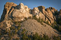 USA, Wyoming, Mount Rushmore Stock Photos