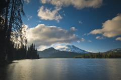 USA, Oregon, Deschutes County, scenic view of Sparks Lake - stock photo