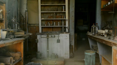 Bodie California - Abandon Mining Ghost Town Interior - Daytime - stock footage