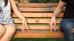 lovers hands - stock footage
