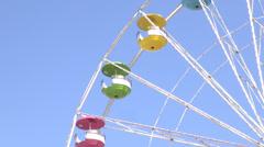Ferris Wheel, Amusement Park Rides - stock footage