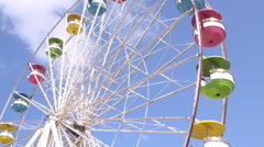 Ferris Wheel, Amusement Park Rides - stock footage