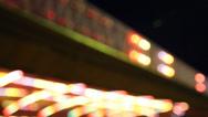 Stock Video Footage of lights amusement park