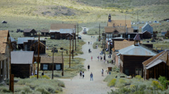 Bodie California - Abandon Mining Ghost Town - Time Lapse - Daytime - stock footage