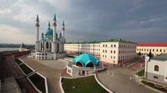 Kul sharif mosque in kazan kremlin russia Stock Footage