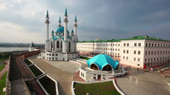 Kul sharif mosque in kazan kremlin russia Stock Footage