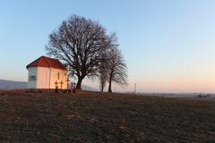 Nice catholic chapel in eastern europe - slovakia Stock Photos