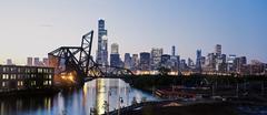 USA, Illinois, Chicago, näkymä etelälaidalla vanha silta Kuvituskuvat