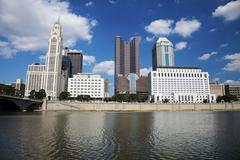 USA, Ohio, Columbus horisonttiin Kuvituskuvat