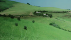 Cars Driving on a Road through Tuscany Italy - 29,97FPS NTSC Stock Footage