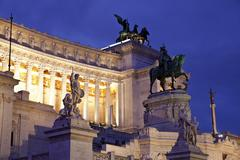 Stock Photo of Victor Emmanuel II monument at dusk