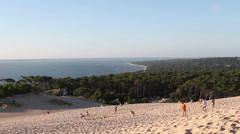 Famous Famous Dune du Pilat top view landscape, France - 1080p Stock Footage