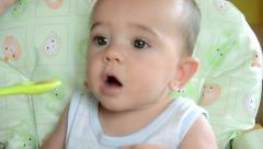 Baby food Stock Footage