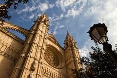 cathedral la seu - stock photo