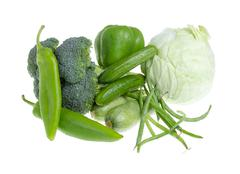 assorted vegetables. - stock photo