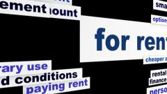 For rent business hd animation Stock Footage
