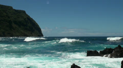 Madeira coastline with jungle mountains Stock Footage