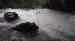 Stock Video Footage of nature, BX falls spring runoff true 240FPS slo mo, wide shot