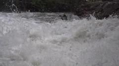 Nature, BX falls spring runoff, true 240FPS slo mo, base of falls Stock Footage