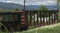 Railroad, Kelowna Pacific rail train Stock Footage