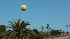 San Diego Safari Park balloon ride moving HD 9030 Stock Footage
