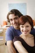 Stock Photo of Portrait of smiling couple