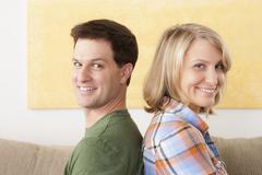 Stock Photo of Portrait of smiling mid adult couple
