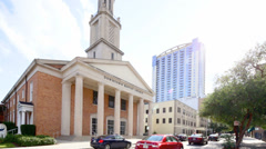 Baptist Church Downtown Orlando Florida Stock Footage