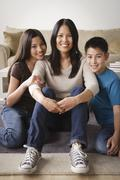 Stock Photo of Portrait of cheerful family