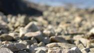 Pebbles and Ocean Rack Focus Stock Footage