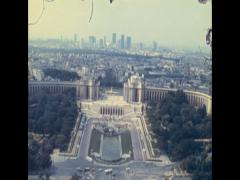 Paris 1975: cityscape from the Eiffel tower Stock Footage