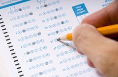 taking an examination or test - stock photo