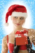 christmas beauty close up - stock photo