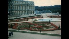Paris 1960s: Versailles castle Stock Footage