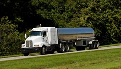fuel tanker transport truck - stock photo