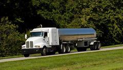 Fuel tanker transport truck Stock Photos