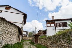 traditional ottoman houses in safranbolu - stock photo