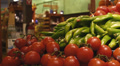 Produce in Grocery Market Footage